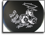 vinyl logo on wheel cover